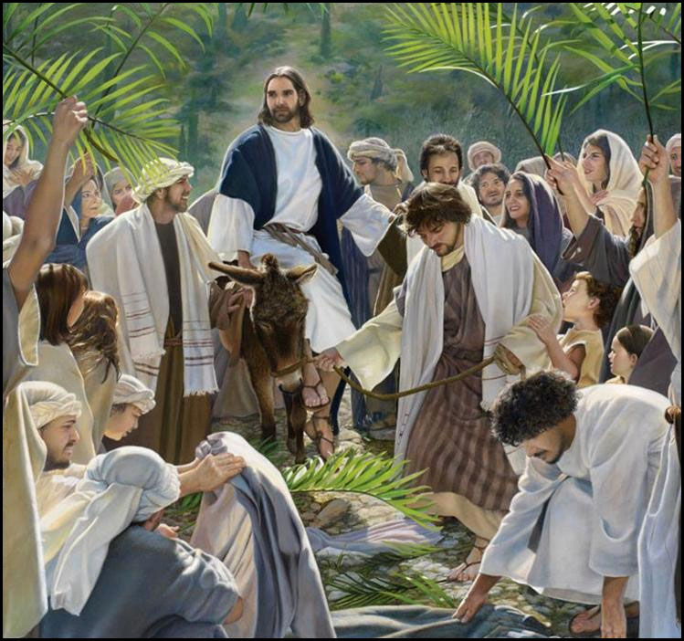 Image result for the triumphal entry - palm sunday