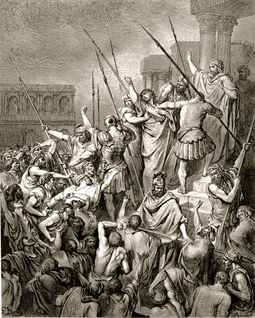 Paul_Addresses_the_Crowd_After_His_Arrest_by_Gustave_Doré